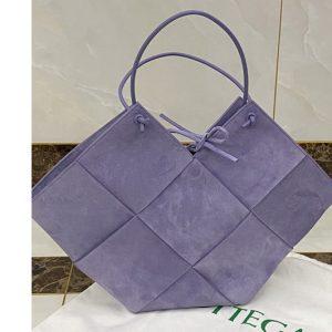 Replica Bottega Veneta 652057 Tote bag in Purple Intrecciato Nappa Leather