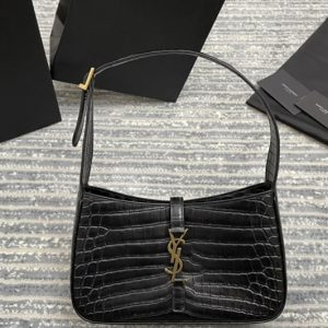 Replica Saint Laurent 657228 YSL LE 5 À 7 HOBO BAG IN CROCODILE-EMBOSSED SHINY LEATHER