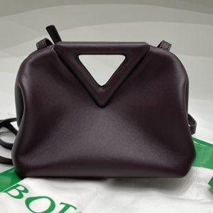 Replica Bottega Veneta 658476 Point Leather top handle bag in Fondant Calf Leather