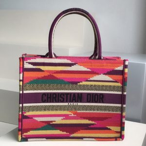 Replica Christian Dior M1296 Small Dior Book Tote Bag in Dior embroidery