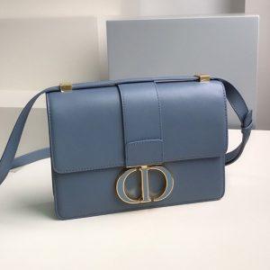 Replica Christian Dior M9203 Dior 30 Montaigne bag in Blue Box Calfskin Leather