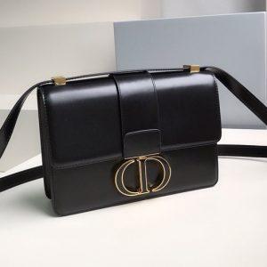 Replica Christian Dior M9203 Dior 30 Montaigne bag in Black Box Calfskin Leather
